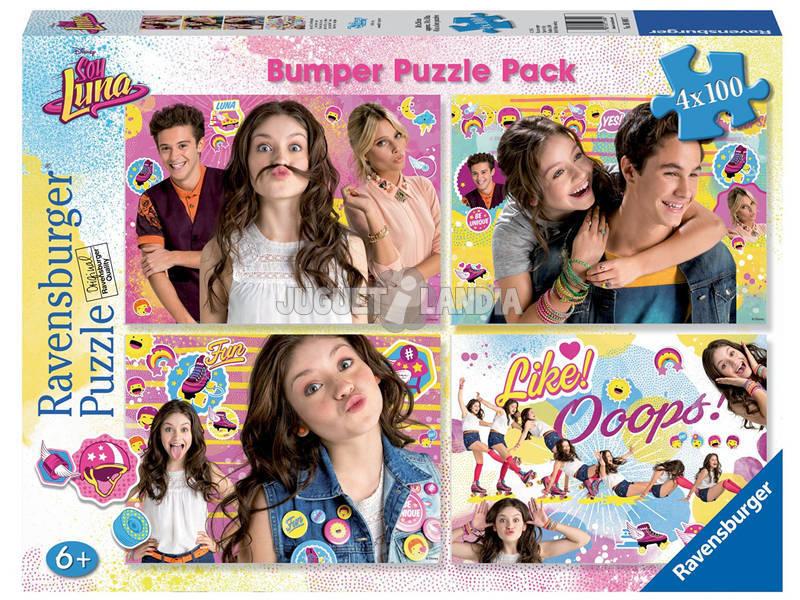 Puzzle Soy Luna Bumper Pack 4x100 Peças