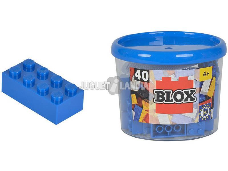 Blox Frasco com 40 Blocos Azuis