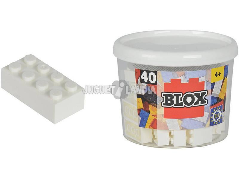 Blox Balde com 40 Blocos Brancos