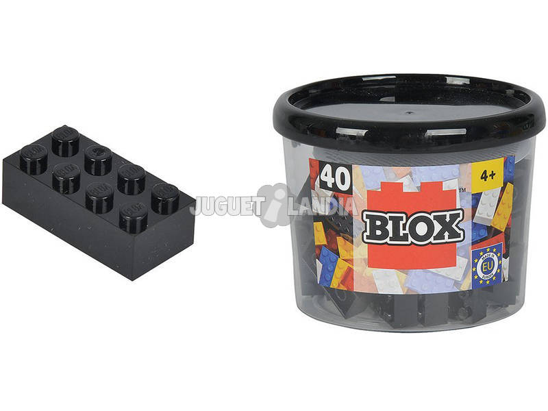 Blox Bote con 40 Bloques Negros