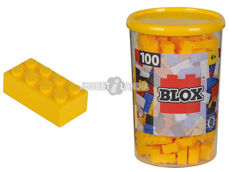Blox Bote con 100 Bloques Amarillos