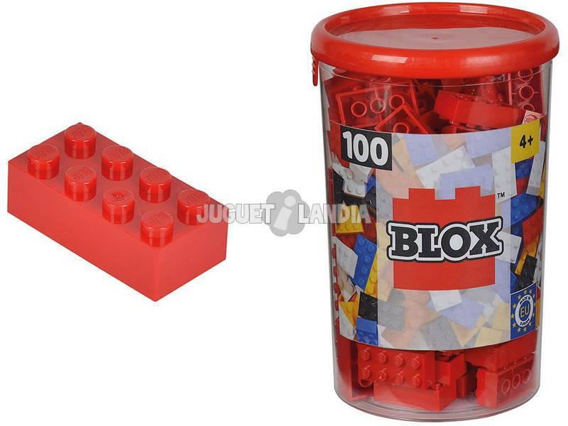 Blox Bote con 100 Bloques Rojos