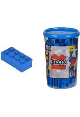 Blox Bote con 100 Bloques Azules