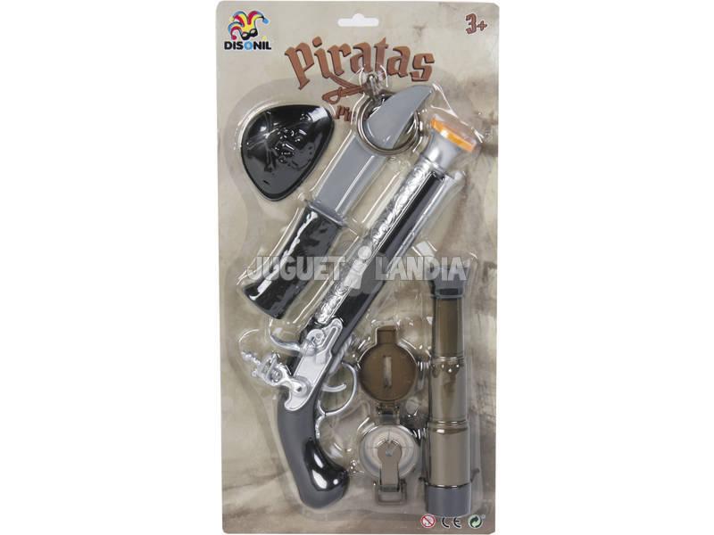 Pistola Pirata com Acessórios 5 Peças