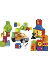 Cubo Bloques Construccion Animales 46 piezas