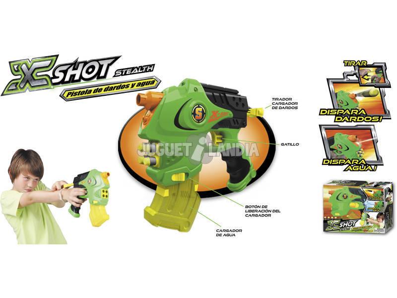 Pistola X-Shot Stealth Lanza Agua y Dardos