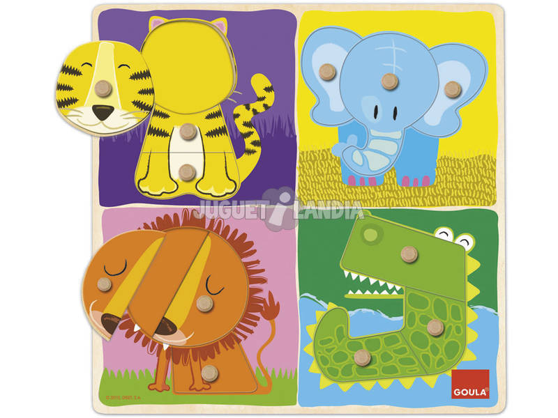 Puzzle Animales Selva