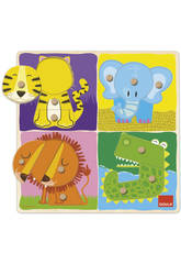 Puzzle animaux jungle