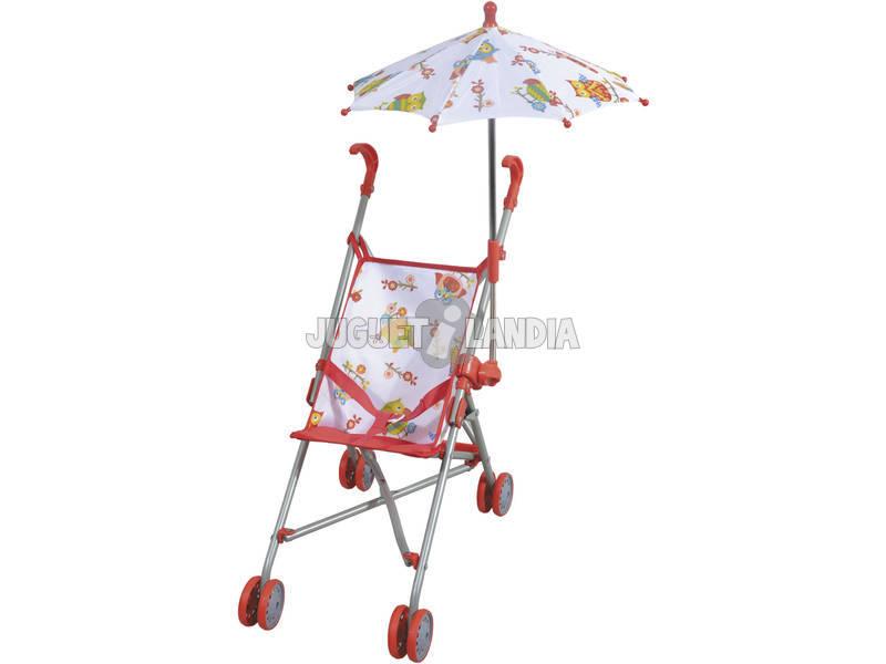 Cadeira Boneca Dobrável com Guarda - chuva Corujas