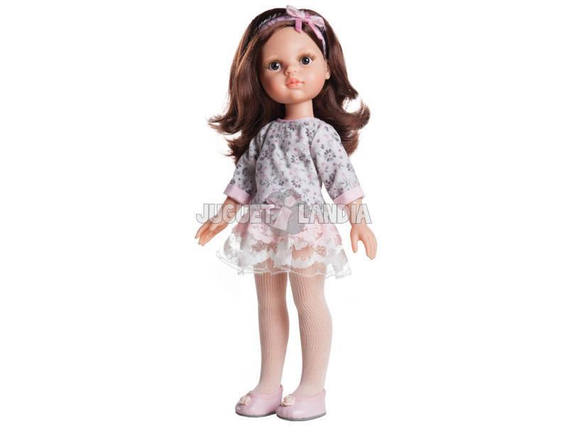 Muñeca 32 cm Carol Las Amigas Vestido Flores Paola Reina 4502