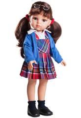 Puppe 32 cm Carol Schulmädchen Freunde Hobbys Paola Reina 04615