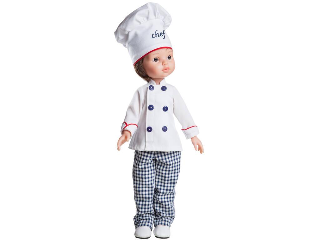Boneco 32 cm Carlos Chef Amigas Hobbies