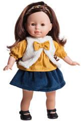 Paola Reina - Bambola Virgi - Las Blanditas Collection vestitio con gilet- 37 cm