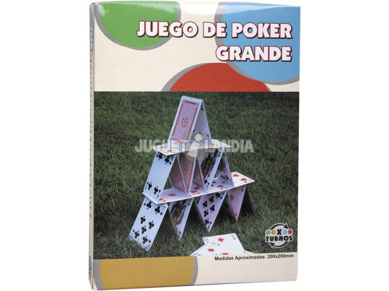 Cartas De Poker Grandes 20x28 cm.