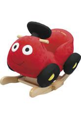 Une voiture balancier rouge musical