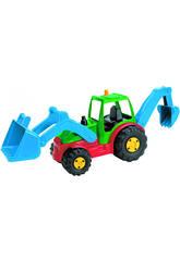 Tractor con pala y Retro