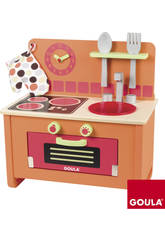 Cocina de juguete de madera 40x41x23,5 cm.