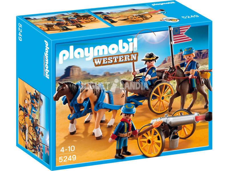 Playmobil soldados americanos con cañon