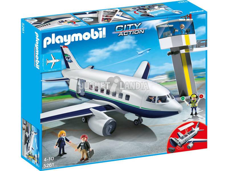 Playmobil avion de pasajeros y mercancias