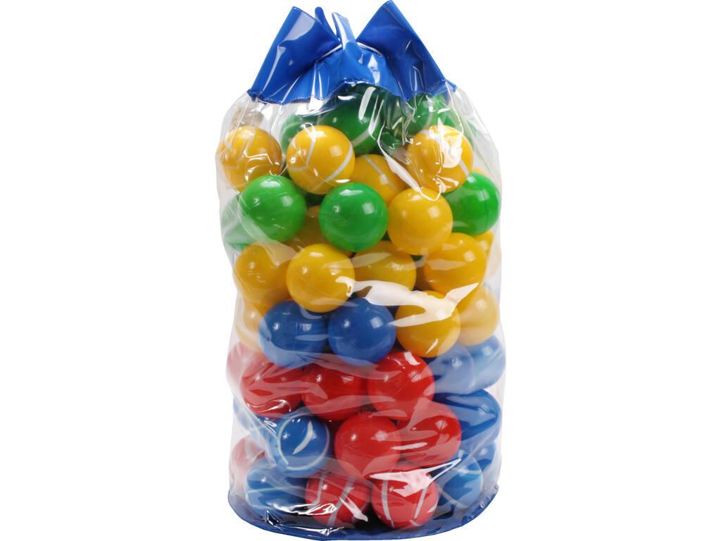 Bolsa 100 Bolas 7cm Rayas y Colores