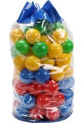 100 Bolas Rallas/Colores 7 cm.