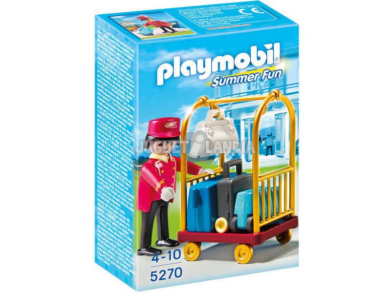 Playmobil botones con carro de equipaje