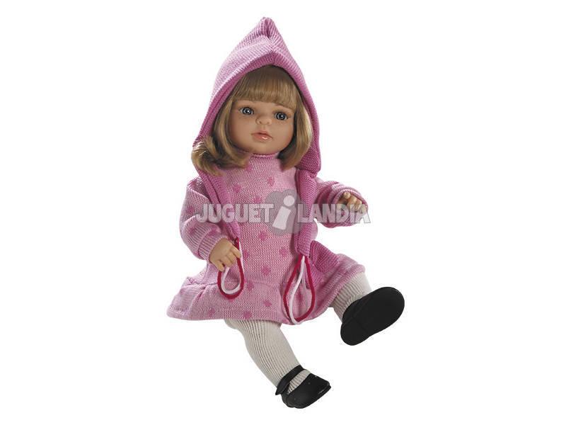 Muñeca Laura Rubia Vestido Rosa 40 cm