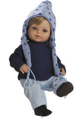 Berjuan Baby Doll Laura bionda con pantaloni celesti 40 cm
