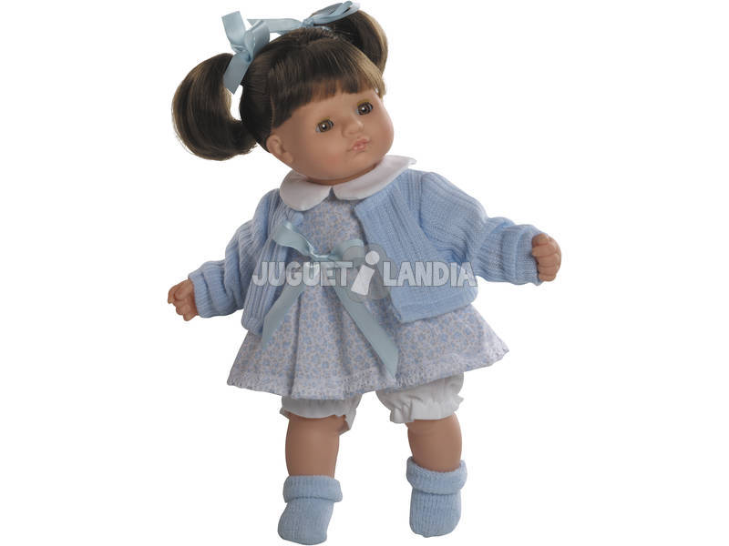 Muñeca Baby Shoes Morena 34 cm.