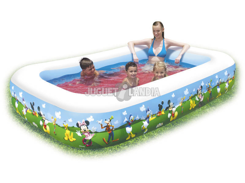 Piscina Hinchable Mickey Mouse de 262x175x51cm Bestway 91008B