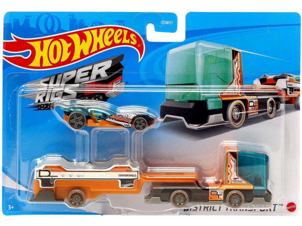 Hot Wheels Super Camiones de Juguete Mattel BDW51