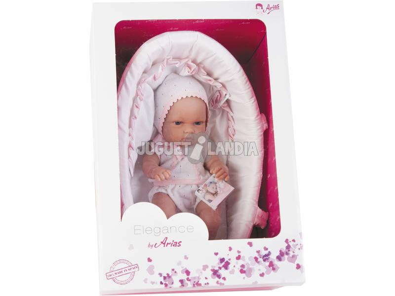 Boneca Elegance Natal com Alcofa 33 Cm Arias 60105
