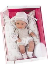 Bébé Elegance 33 cm Dana Brun Avec Couffin