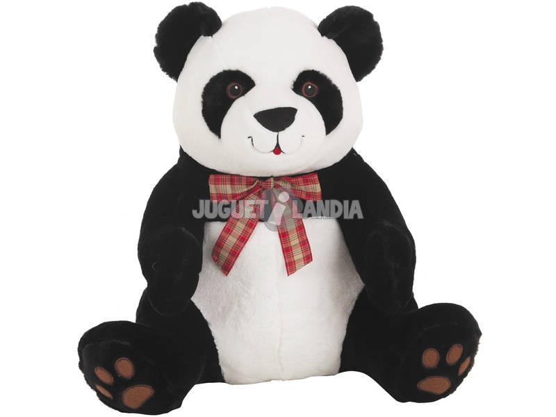 acheter ours panda noeud carreaux 55 cm juguetilandia. Black Bedroom Furniture Sets. Home Design Ideas