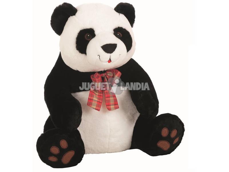 acheter peluche ours panda noeud ecossais 45 cm llopis juguetilandia. Black Bedroom Furniture Sets. Home Design Ideas