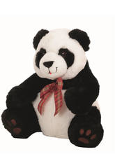 Peluche Ours Panda Noeud Ecossais 35 cm Llopis 10467