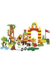 Contenedor Bloques Construccion Selva 78 piezas