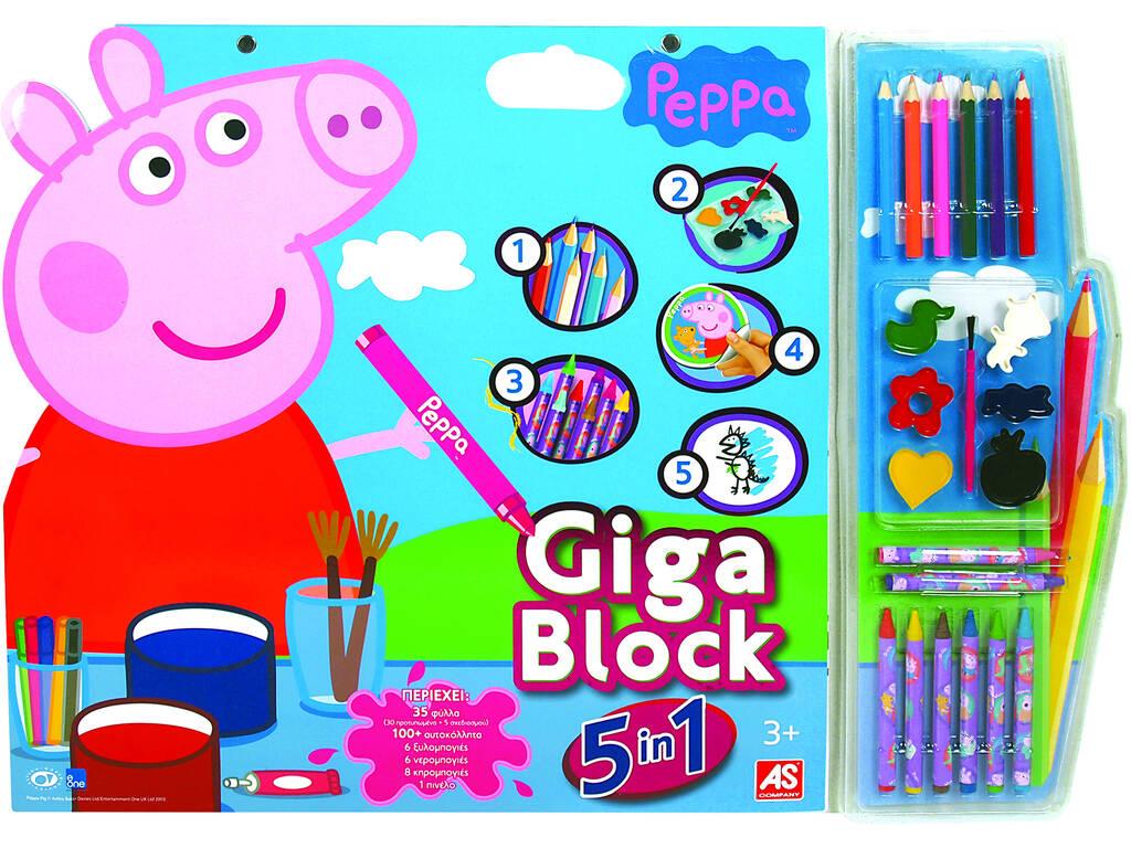 Artesanato Giga Block Peppa Pig 5 Em 1 Cefa Brinquedos 21804