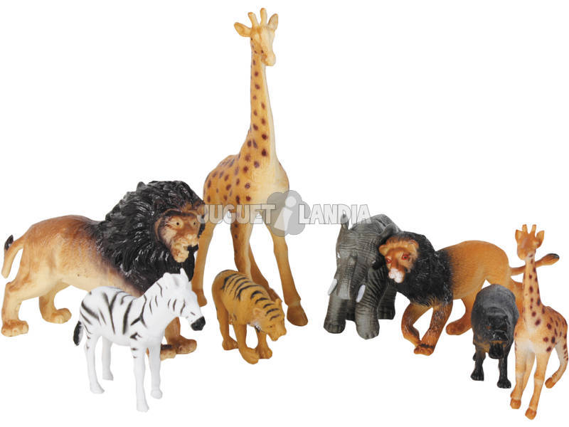 Animais Africanos 8 peças