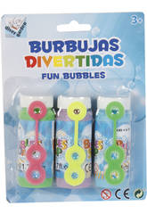 Burbujas Divertidas 3 Botes 50 ml.