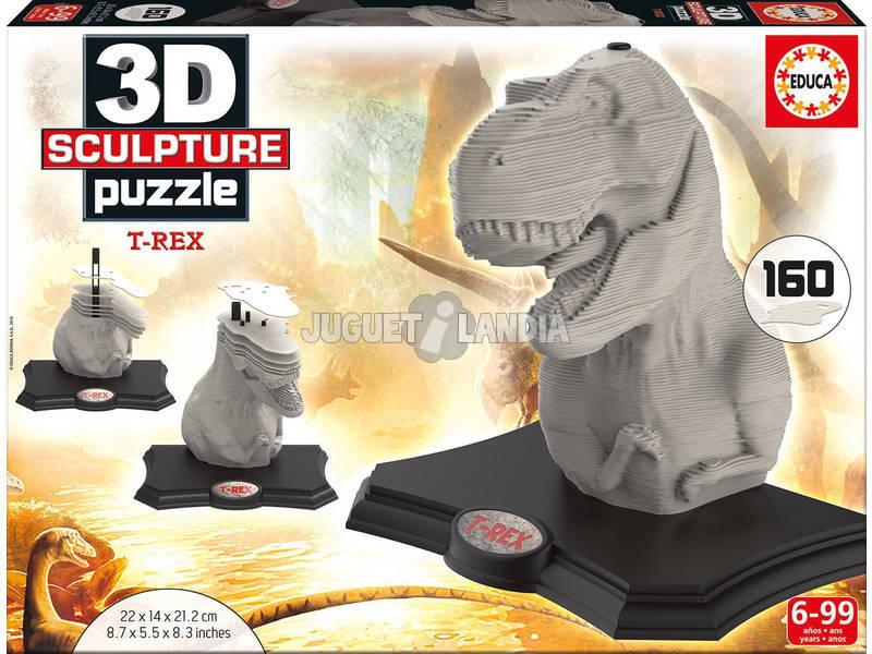 Puzzle 3D Scultura T-Rex