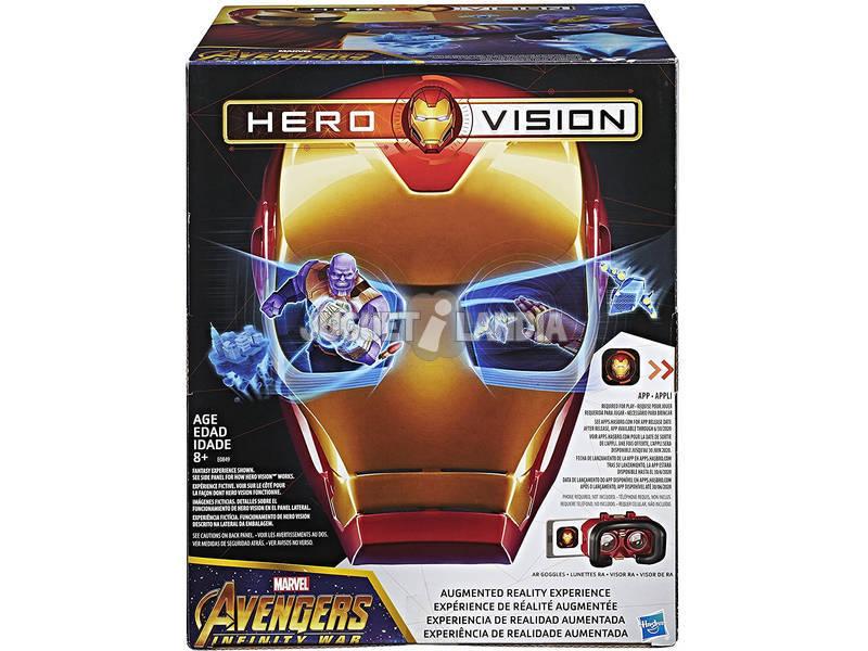 Avengers Hero Vision Iron Man Realidad Aumentada Hasbro E0849175