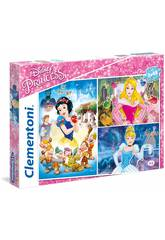 Puzzle 3x48 Disney Prinzessinnen Clementoni 25211