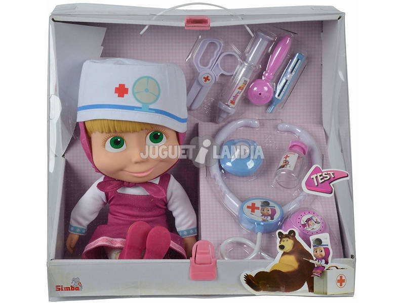 Masha Doctor Com Maleta e Acessórios Simba 9306542