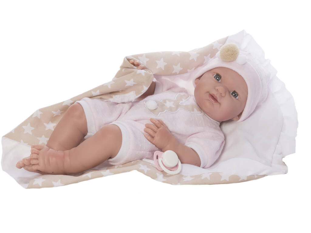 Boneco Baby Recém nascido Star 37 cm. Caso Nines d´Onil 432