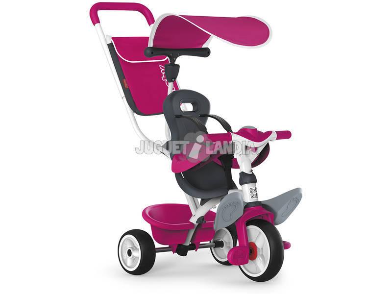 Triciclo 3 em 1 Cor de Rosa Baby Balade 2 Smoby 741101