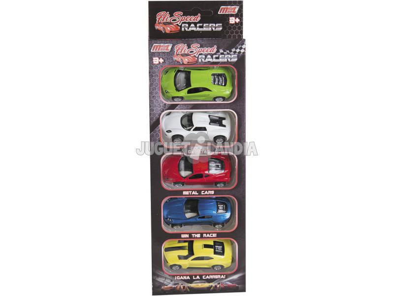 Pack 5 Veicoli da Corsa