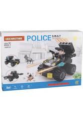 Vehículo con Lanzacohetes de Policía S.W.A.T Bloques de Construcción 106 Piezas