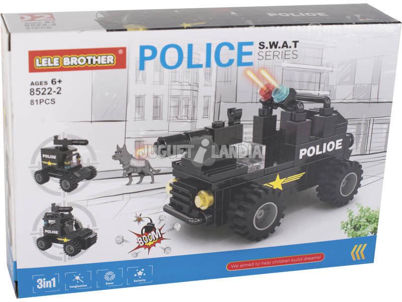 Coche Armado de Policía S.W.A.T Bloques de Construcción 81 Piezas