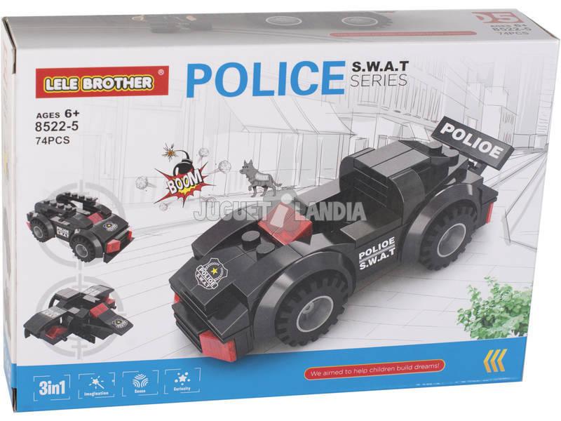 Vehículo de Acción Policía S.W.A.T Bloques de Construcción 74 Piezas